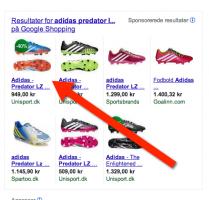 Product listing ads (PLA) trick