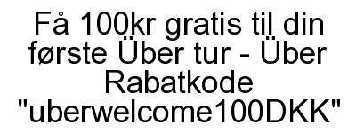 Uber rabatkode 2016